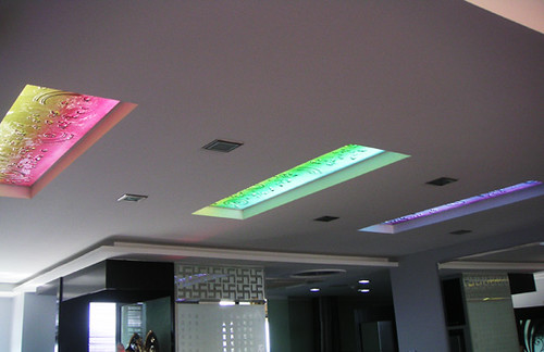Fused Glass Ceiling Lights A Process Of Heating The