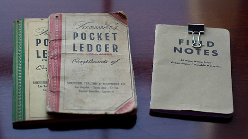 Grandpa's Pocket Ledger & My Field Notes | by ballookey