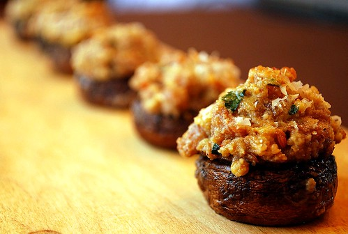 Sausage Stuffed Mushrooms | by VintageVictuals