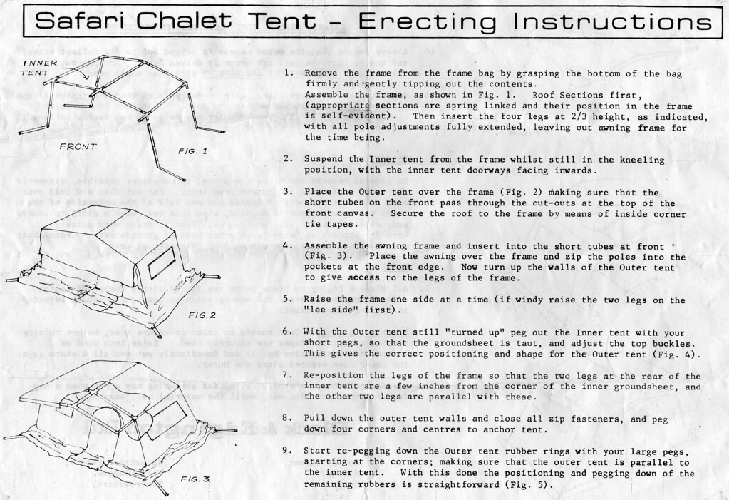 Safari Chalet Canvas Frame Tent Instructions Blacks Of Gre