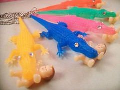 Baby Eating Alligator Necklace | by thelovelyteaspoon