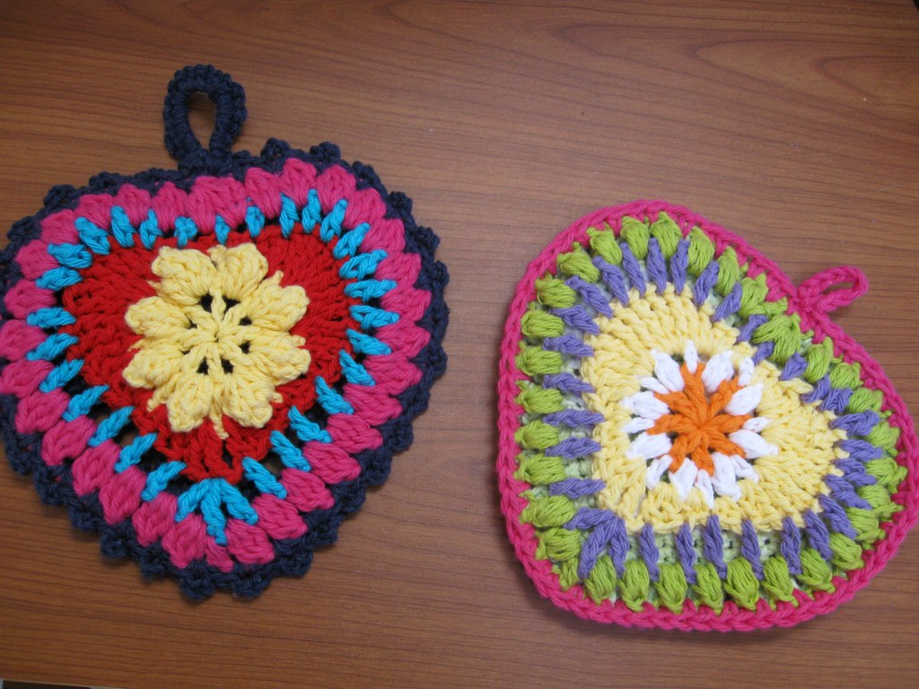Heart Potholders | I was inspired by SummerMelody on Ravelry… | Flickr