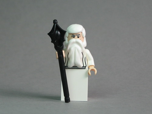 Saruman with BrickForge Sorcerer Staff | by Dunechaser