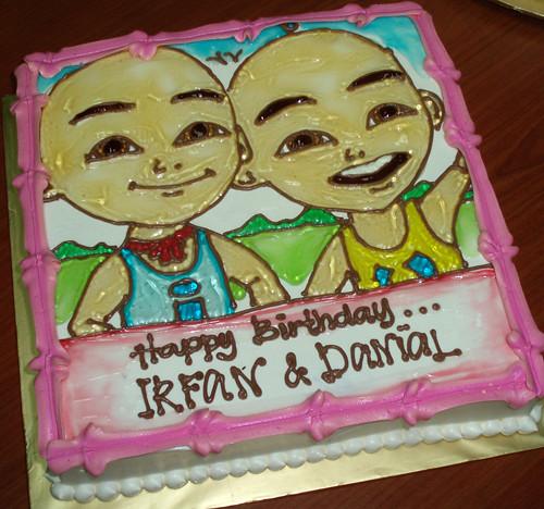 Kek Birthday Upin & Ipin