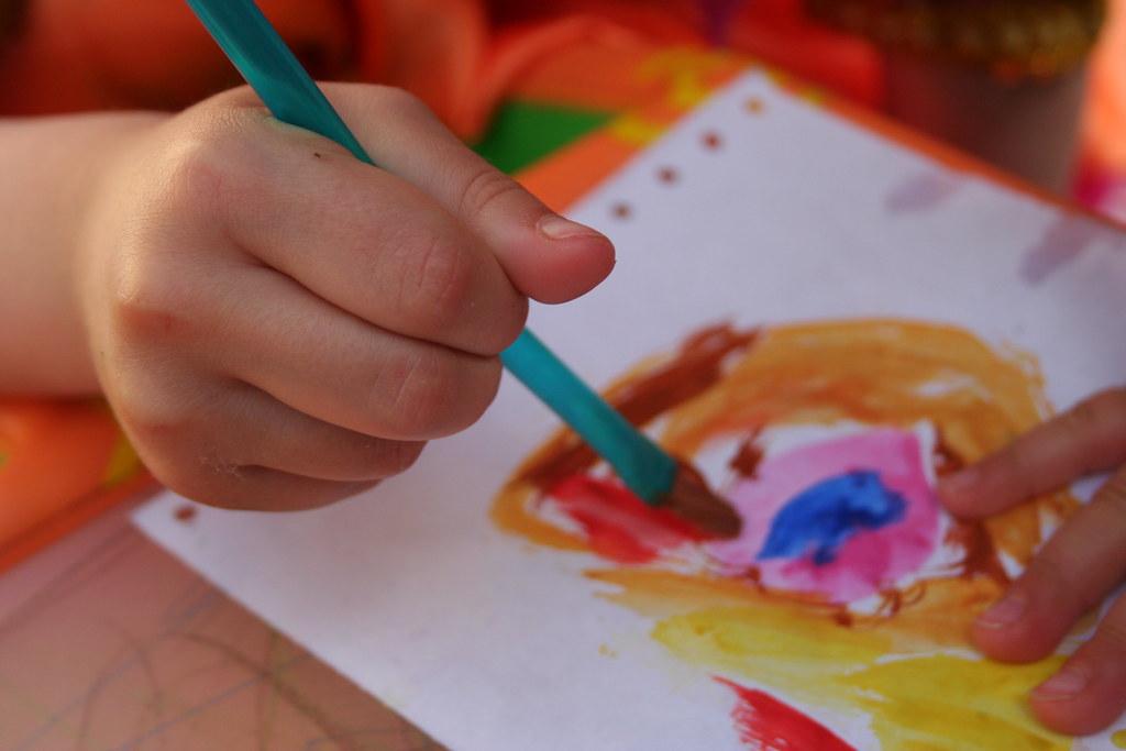 Резултат с изображение за painting child