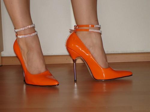 stilettos orange yasmina high heels stilettos hh flickr. Black Bedroom Furniture Sets. Home Design Ideas