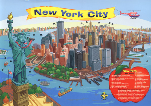 Cartoon Map of New York City, USA (BIG) | From: Linda in USA… | Flickr