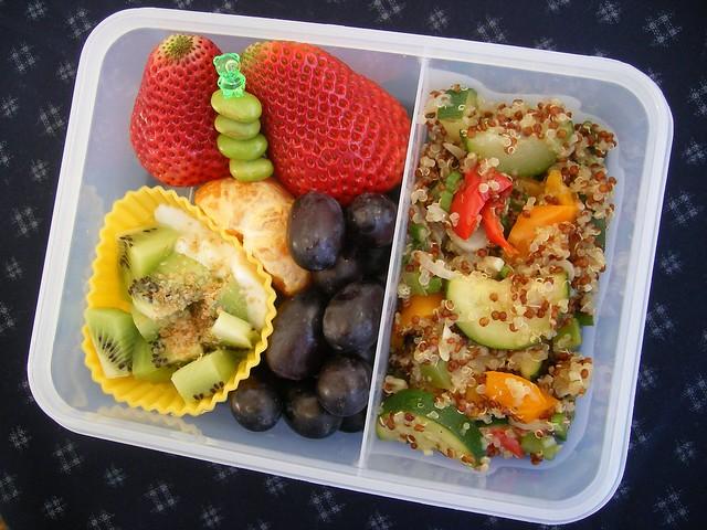 Quinoa salad bento