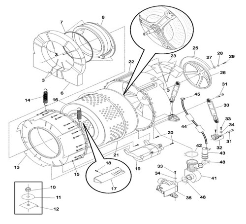 Frigidaire Front Load Washer Drum Assembly Diagram Flickr