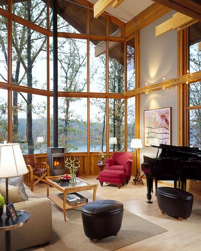 Home Design Center Missouri City Tx: Living Room: Architect-designed Lindal Home In Innsbrook
