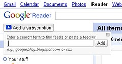 Google Reader add subscription | by jordan.conway