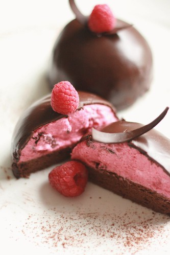Raspberry Mousse Chocolate Cake | by SweetAlmond