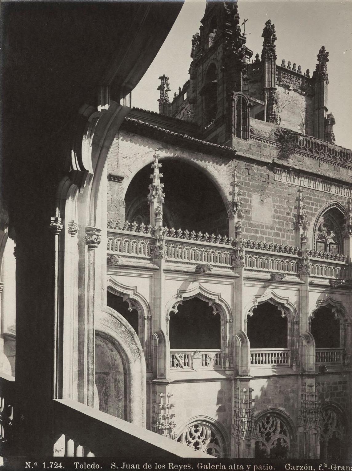 Monasterio de San Juan de Los Reyes a finales del siglo XIX. Fotografía de Rafael Garzón.
