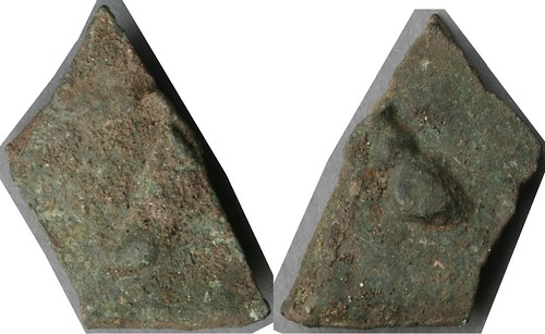 05/1 Aes Signatum Quincussus Bar. Bull; Bull, fragment showing only the hoof on both sides. AM#9934-63, 27x50mm, 63g40 | by Ahala