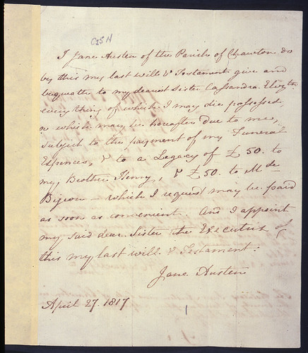 Jane Austen's Will | by The National Archives UK