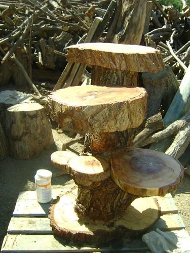 Muebles rusticos de troncos repisa de sauce amargo de 6 - Muebles rusticos mexicanos ...