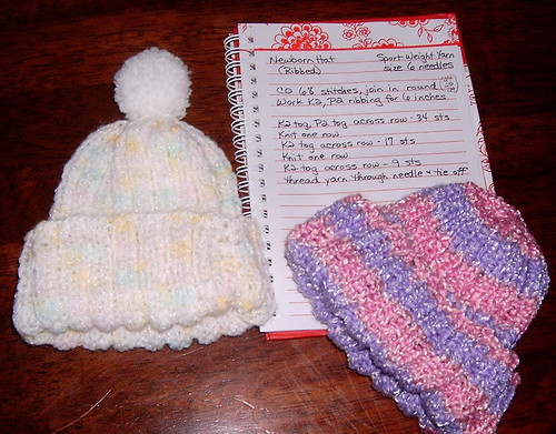 Stretchy Ribbed Newborn Hat - In the Round | by Shandeh
