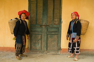 Red Yao women with their baskets in Ta Phin village near Sapa, V | by jitenshaman