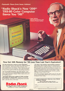 TRS-80 advertisement from Personal Computing 8-82, featuring Isaac Asimov | by SA_Steve