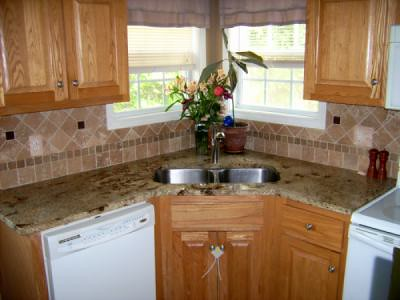 ... Kitchen Tile Backsplash With Glass Accent Tiles | By KenDiCamillo