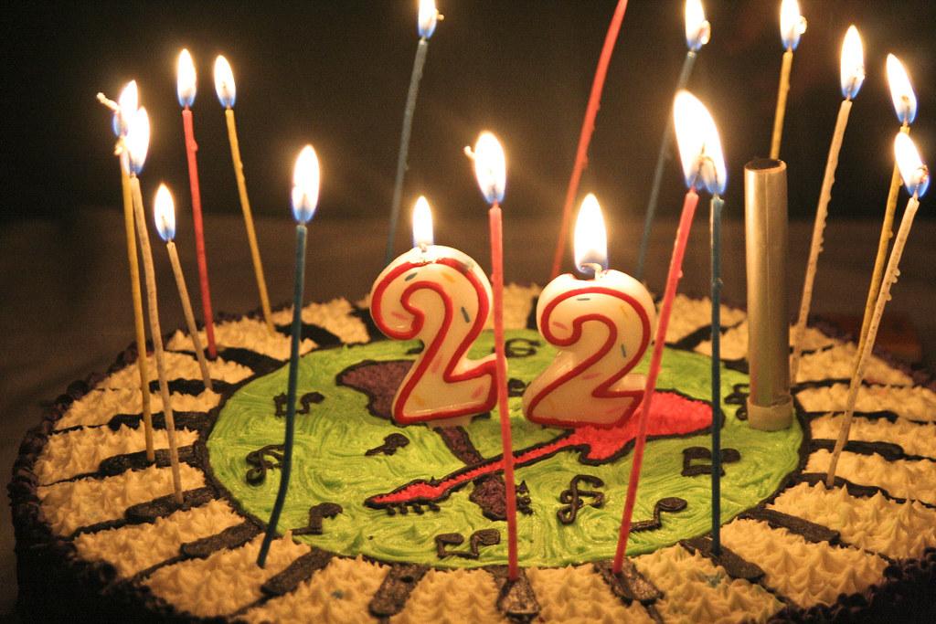 Поздравления с днем рождения девушке на 22 года
