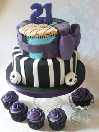 yummylittlecakes nightmare before christmas 21st birthday cake by yummylittlecakes