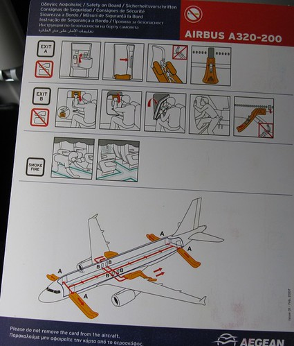 Airbus A320-200 Safety Instructions | by Tilemahos Efthimiadis