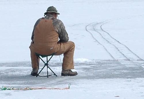 Ice fishing evergreen lake cherokee saw flickr for Evergreen lake fishing report
