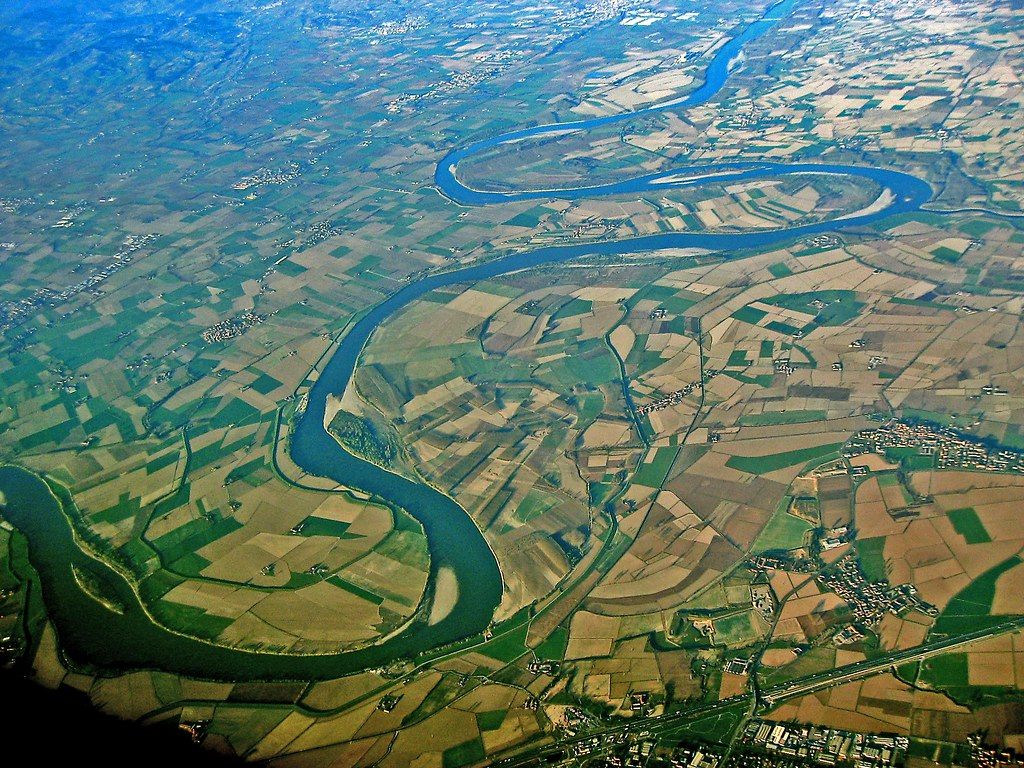Po River From North Flight LINFCO The Po Latin Padus An Flickr - Po river