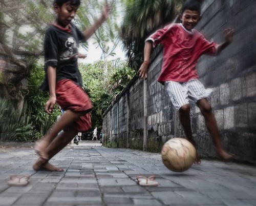 kuta soccer, in a lane | by gazrad
