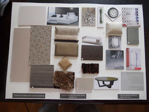 Sample board living room venus80 flickr for What is a sample board in interior design