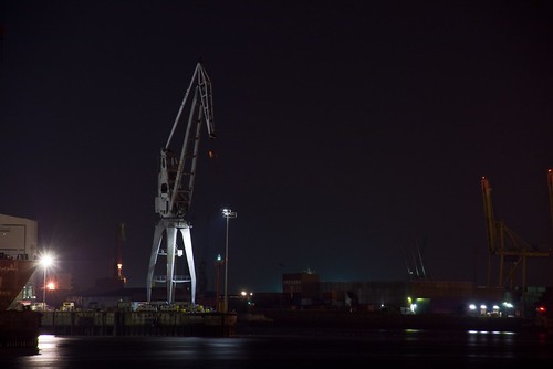 Crane in Hamburg Harbour | by J e n s