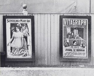 "Two movie posters advertising ""The Schooling of Mary Ani"" and ""Johanna, The Barbarian"" 