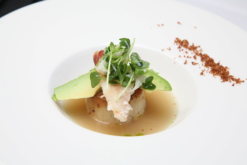 CA Avocado with Scallop, Crab and Bacon Powder | by California Avocados
