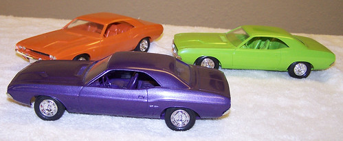 1970 and 1971 Dodge Challenger RT promo model cars | by coconv