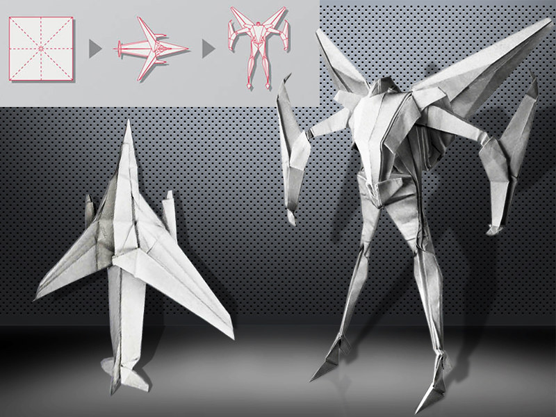 Origami Starscream Transformers By Bertrand Pautremat