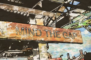 Mind the Gap - ink and wash | by Lex Photographic