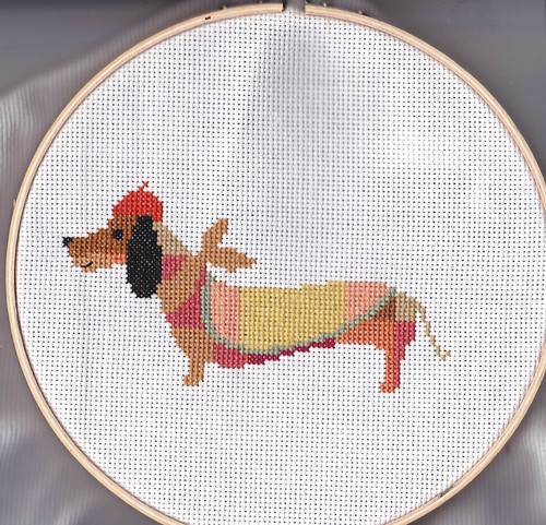 Cross stitch patchwork dachshund | by kittykill