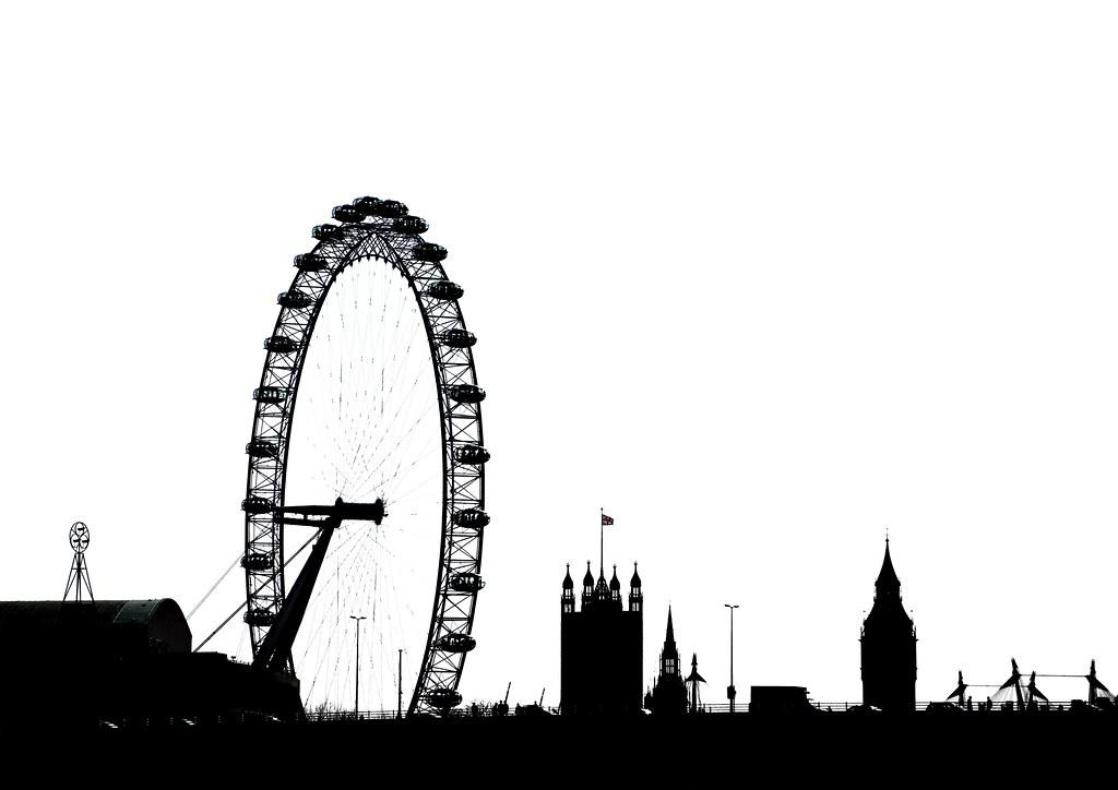 London Silhouette By Simon His Camera