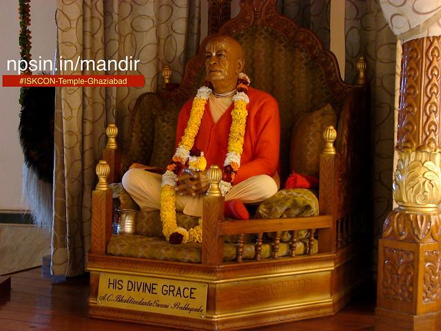 Most common style of Prabhupada dham among all ISKCON temple. Swami Prabhupada status is so real.