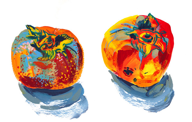 Sketchbook #102: December Persimmons