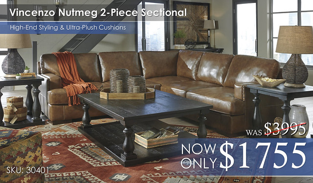 Vincenzo Nutmeg Sectional 30401-66-56-T880