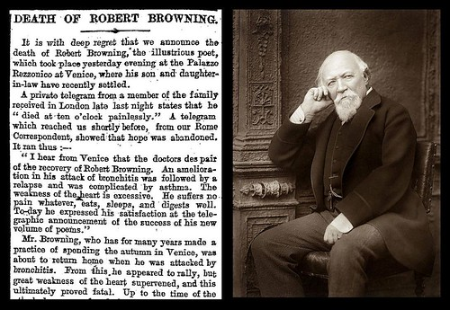 12th December 1889 - Death of Robert Browning | by Bradford Timeline