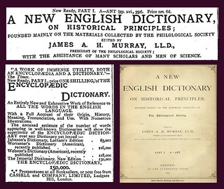 1st February 1884 - Oxford English Dictionary (part one) published | by Bradford Timeline