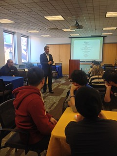 Rep Cabral speaking to the students of the Suffolk University Leadership Group about Portuguese Culture. | by Representative Antonio F.D.Cabral