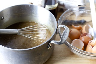 whisking in eggs