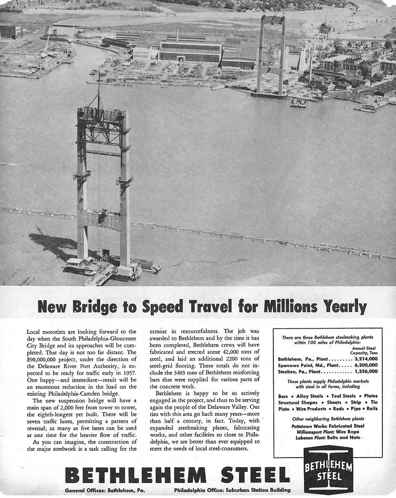 Bethlehem Steel Ad 1955 | A Bethlehem Steel ad from 1955 fea… | Flickr