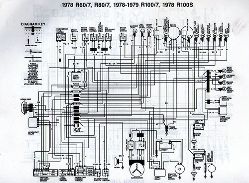 1978 bmw r80 7 wiring diagram scanned from a workshop manu flickr. Black Bedroom Furniture Sets. Home Design Ideas