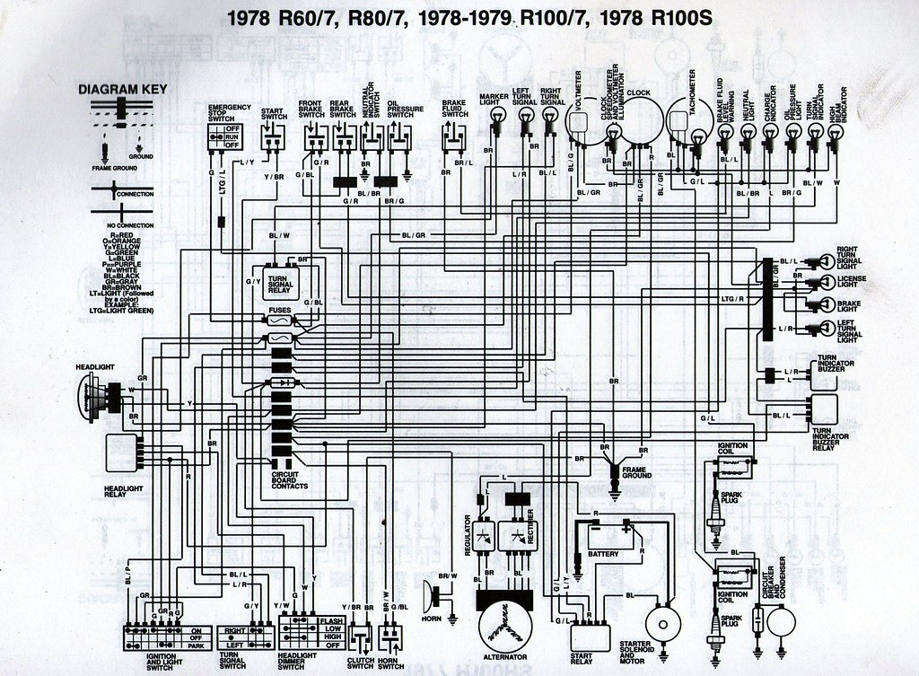 1978 bmw r80 7 wiring diagram scanned from a workshop manu flickr rh flickr com BMW E36 Wiring Diagrams BMW Headlight Wiring Diagram
