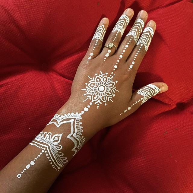 White Bodyart Henna Style Waterproof Paint Design That La Flickr
